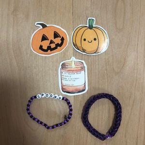 Spooky Halloween bracelet sticker set